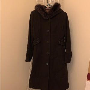 Cashmere Wool Trench Coat